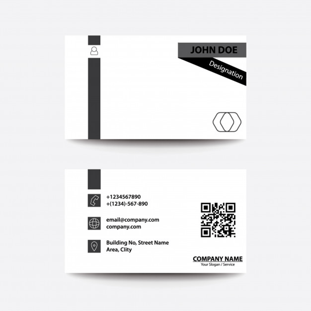 Печать черно-белых визиток во Владимире