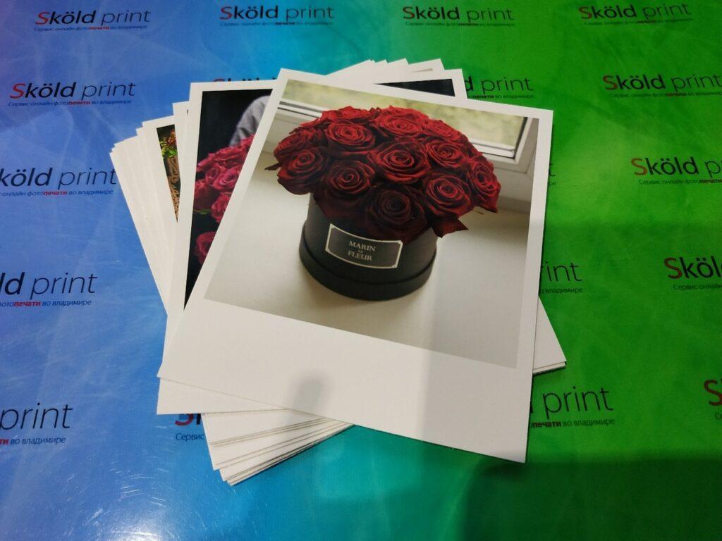 Печать фотографий в формате поларойд